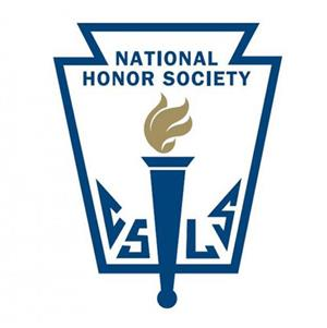 National Honor Society Banner with torch symbol